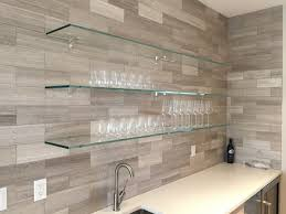 Glass Design For Kitchen The Glass Shelves Provide A Neutral Yet Wirkunsvolle Wall Design