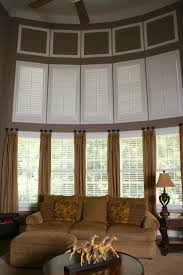 two story family room plantation shutters on top would be easier