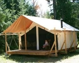 tent platform cimarron platform tent wall tent on platform with front porch