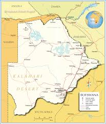 Interactive Map Of Africa by Map Of Botswana Nations Online Project