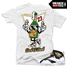 champagne cartoon jordan 7 champagne shirts to match