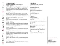 resume font and size 2015 videos resume videography resume