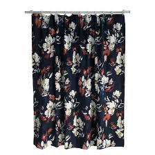 Orange And Blue Shower Curtain Floral Print Shower Curtain Blue Threshold Target