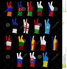Flags Of Eastern Europe Flags Of Eastern Europe Stock Photo Image Of Demonstrating 25881550