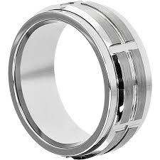 mens spinner rings embrace 10mm tungsten spinner ring spinner style wedding band