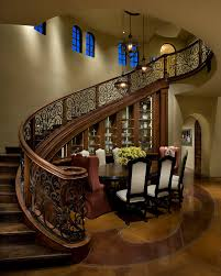 Balcony Banister Wrought Iron Stairs Entry Traditional With Art Atrium Balcony