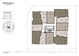 floor plan building floor plans botanica residences
