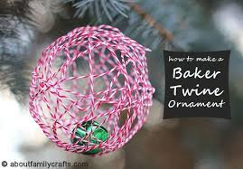 baker twine ornament about family crafts