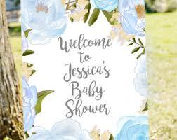 blue baby shower baby boy shower etsy
