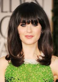 same haircut straight and curly zooey deschanel long hairstyle straight haircut with curly ends