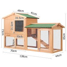 Rabbit Hutch Plans Rabbit Hutch Chicken Coop Cage Guinea Pig Ferret House W 2