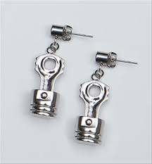 connecting earrings earrings piston connecting rod stang stuff