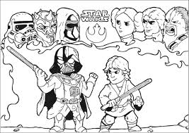 star wars lukexdarthvader fight by allan movies coloring pages