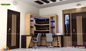 study room modern kitchen living interior kerala home design