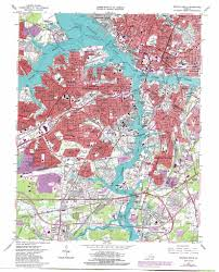 Map Of Norfolk Virginia by Norfolk South Topographic Map Va Usgs Topo Quad 36076g3