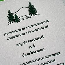 mountain wedding invitations original letterpress wedding invitations stationery designs