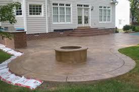 Backyard Concrete Patio Designs Concrete Patios Pictures Sted Concrete Patio Firepit And