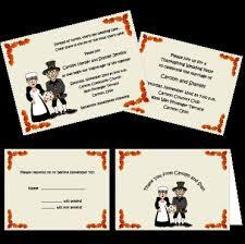 pilgrimage thanksgiving theme wedding invitations