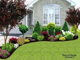 Landscaped Backyard Ideas Pinterest Landscaping Front Of House Garden Design With Front Of