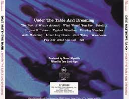 under the table and dreaming dave matthews band under the table and dreaming music back cover