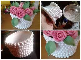Best Out Of Waste Flower Vase Simple Diy Make Thermocol Temple Craft Tutorial Craft Community