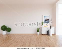 Nordic Home Interiors White Empty Scandinavian Room Interior Nordic Stock Illustration