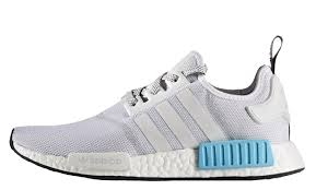 adidas nmd light blue adidas nmd r1 white blue the sole supplier