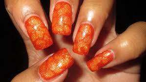 bright orange blobbicure nail art tutorial youtube