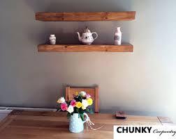 Thick Floating Shelves by Whitewashed Floating Shelves Reclaimed Wood Custom Size