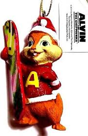 Alvin And The Chipmunks Christmas Ornament - alvin and chipmunks christmas ornament figure santa claus hat