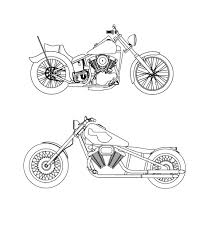 harley davidson coloring pages to print motorcycles awesome
