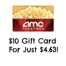 amc gift card deals hot 10 amc theaters gift card just 4 63