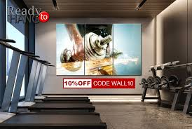 gym wall art powerlifting sports motivational wall art