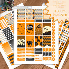 Halloween Stickers Printable by Halloween Planner Stickers Printable Happy Planner Stickers