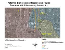 Fault Line Map Earthquake Hazards Along The Wasatch Fault Michael Haskins
