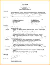Financial Consultant Resume Sample by 7 Financial Advisor Resumes Financial Statement Form