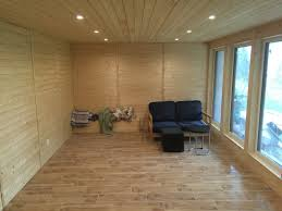 finishing a room with wood siding in a cabin without being