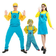 Girls Minion Halloween Costume Wholesale 2016 Children Men Women Minions Costume Halloween Anime