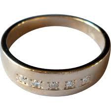 Mens Gold Diamond Wedding Rings 14k yellow gold diamond wedding band ring vintage mens size 9 from