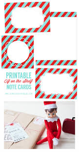 printable on the shelf note cards