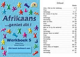 trumpeter publishers afrikaans geniet dit werkboek 5 2nd lang