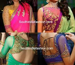 pattern of net blouse party wear net blouse designs south india fashion