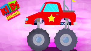 monster truck racing video monster truck stunts and race video for kids cartoon cars for