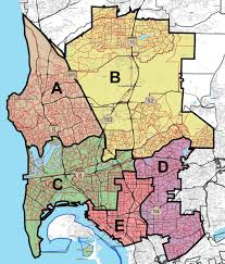San Diego City College Campus Map by District Boundaries San Diego Community College District