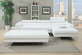 f7364 bk14 p36 2pc sectional w flip up headrest in white color