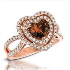 Chocolate Diamond Wedding Ring Set by Top 8 Heart Shaped Engagement Rings Of 2012 Engagement 101