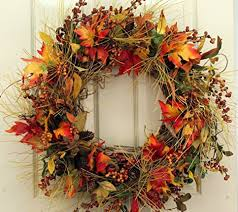 10 beautiful thanksgiving wreaths for your home thanksgiving 2016