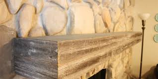 Make A Fireplace Mantel by Remodelaholic Installing A Wood Mantel On A Stone Wall