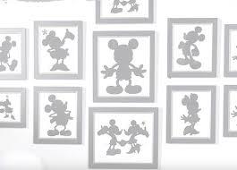 mickey minnie silhouette art