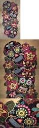 halloween table runners table runners 20662 new day of the dead skeleton halloween color